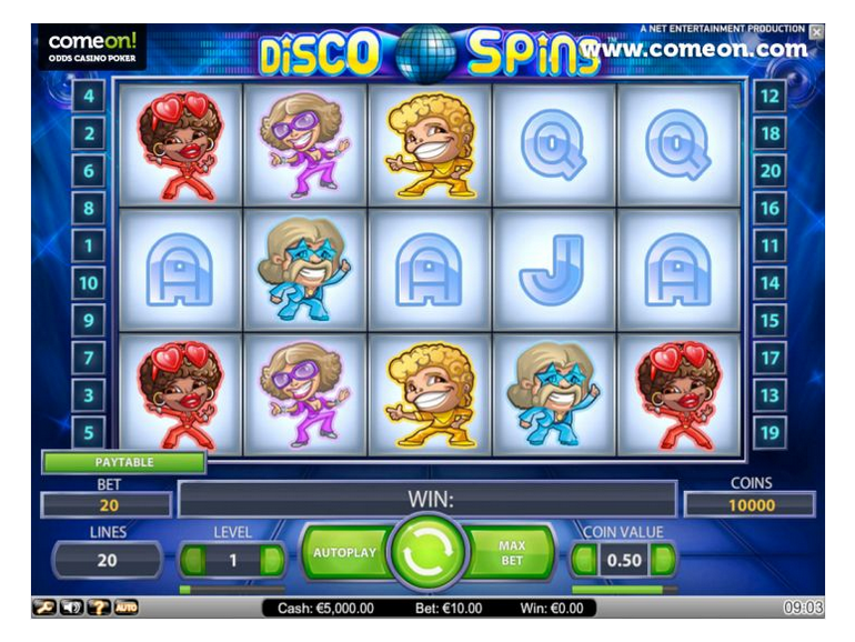 Hrát Disco Spins
